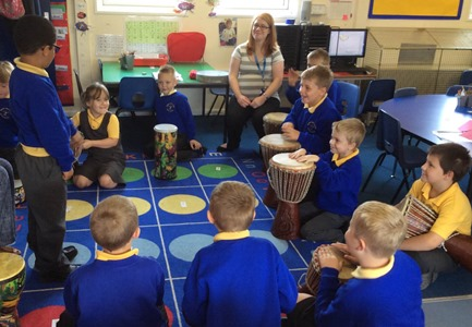 bluebase drumming